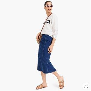J.Crew Pencil skirt in stretch denim-L4790-midi